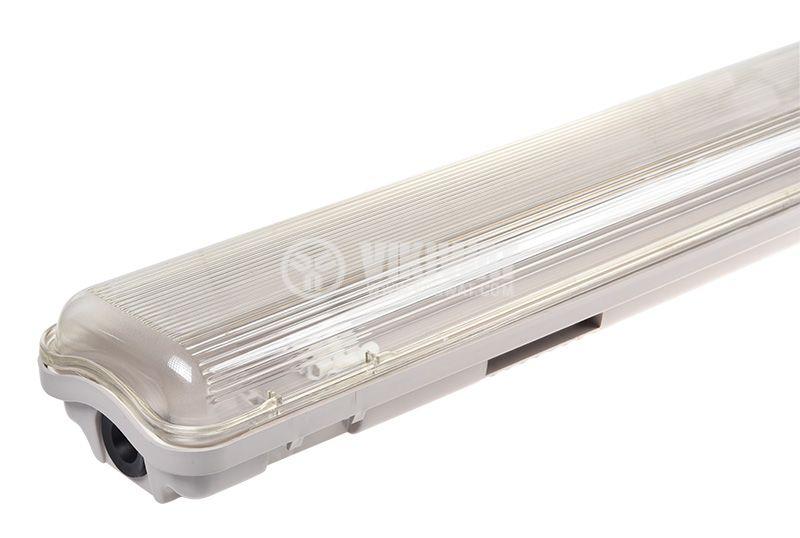 Влагозащитено LED тяло AQUALINE, 2x18W, T8, 220VAC, IP65, 1200mm, едностранно, BT05-21280 - 3
