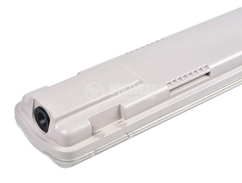 Влагозащитено LED тяло AQUALINE, 2x18W, T8, 220VAC, IP65, 1200mm, едностранно, BT05-21280 - 6