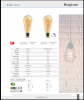 LED FILAMENT bulb 6W, E27, ST64, 220VAC, 515lm, 2200K, warm white, amber, BB46-60620, dimmable - 7