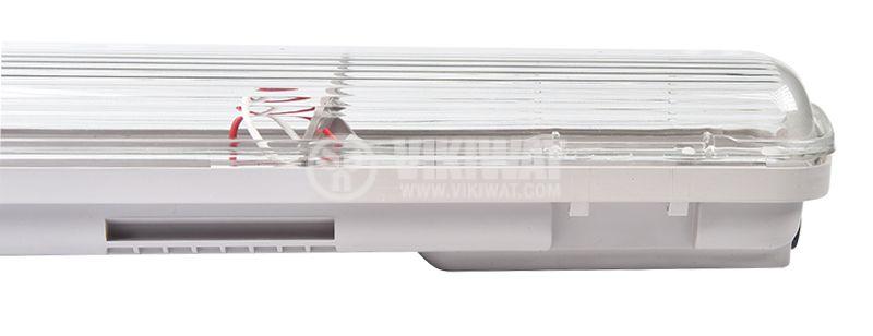 LED Waterproof Fixture AQUALINE 1x9W, T8, G13, 220VAC, IP65, 600mm, single-side, BT05-10680 - 2