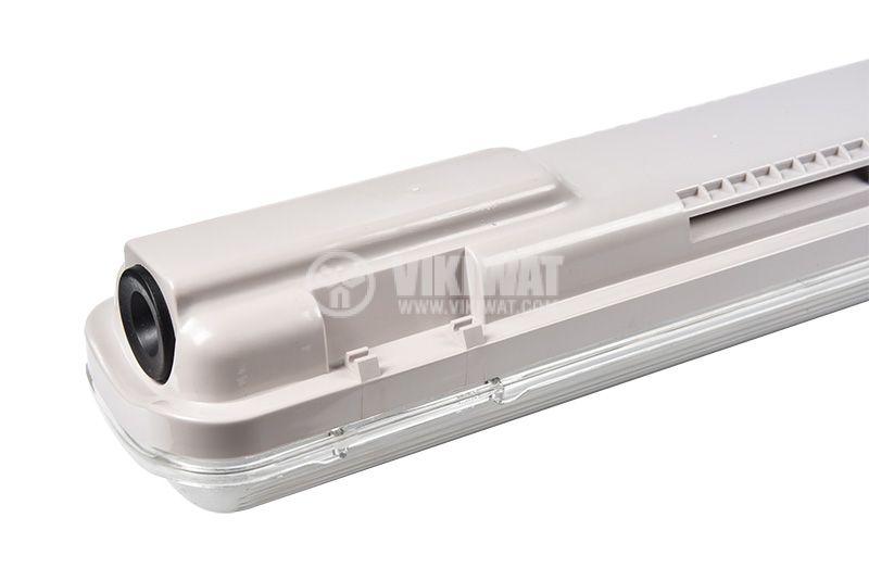 LED Waterproof Fixture AQUALINE 1x9W, T8, G13, 220VAC, IP65, 600mm, single-side, BT05-10680 - 6