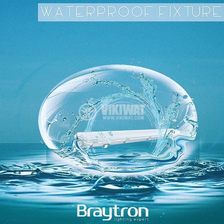 LED Waterproof Fixture AQUALINE 1x9W, T8, G13, 220VAC, IP65, 600mm, single-side, BT05-10680 - 7