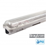 LED Waterproof Fixture AQUALINE 1x9W, T8, G13, 220VAC, IP65, 600mm, single-side, BT05-10680