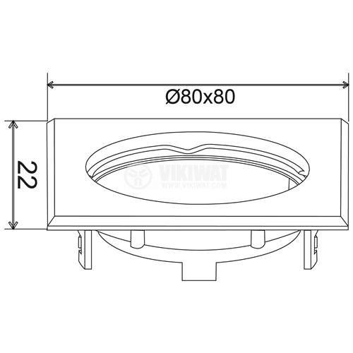 Spotlight fixture MITTO-S BH03-02040, white, GU5.3/GU10 - 3