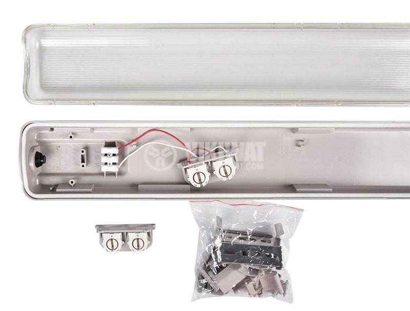 Влагозащитено LED тяло AQUALINE, 2x24W, T8, 220VAC, IP65, 1500mm, едностранно, BT05-21580 - 5