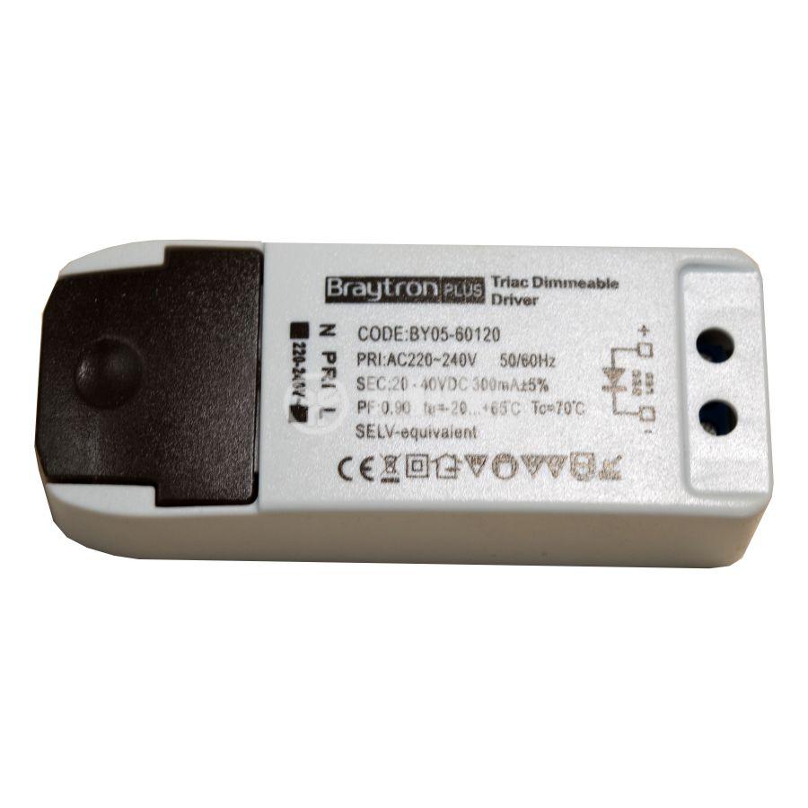 LED захранване Dimmable Driver, входно напрежение 220-240VAC, изходно напрежение 20-40VDC, BY05-60120, димируем - 1
