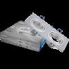 Арматура за вграждане, SPOTTI-S, за халогенни и LED луни, сребриста, GU5.3/GU10, двойна, BH03-00123, подвижна - 1