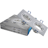 Spotlight fixture SPOTTI-S, silver, GU5.3/GU10, double, BH03-00123 - 1