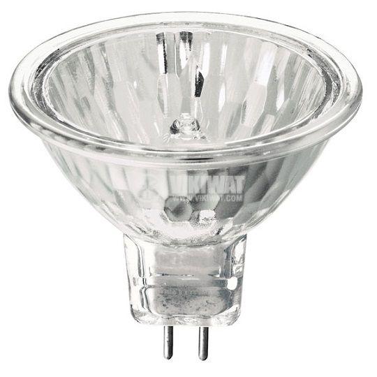 Халогенна лампа ZE1303, GU5.3, 12 V, 40 W, 2700 K, закрита, бяла