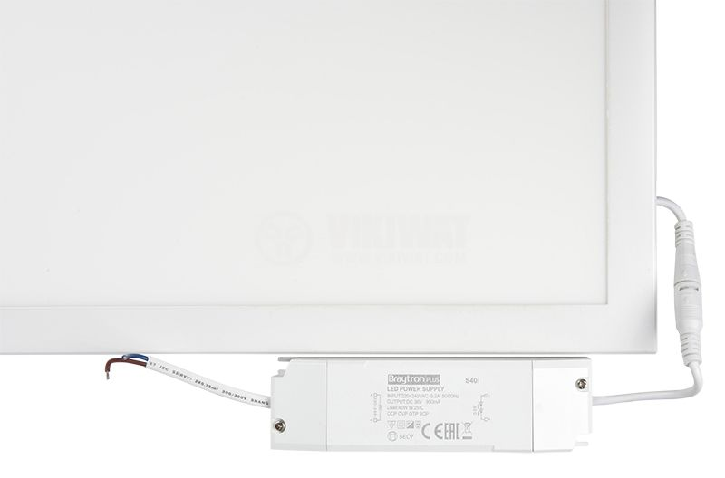 Recessed LED Panel 40W, 220VAC, 3400lm, 4200K, neutral white, 1195x295mm, Slim, BP16-33110 - 7