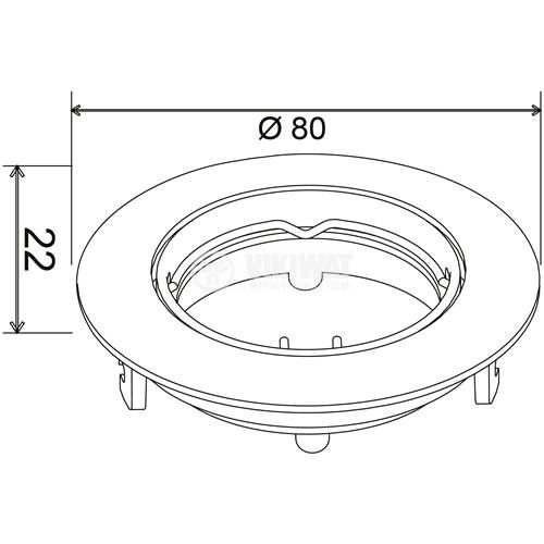 MITTO-R mounting bracket for halogen and LED bulb, white, GU5.3 / GU10, BH03-02070 - 3