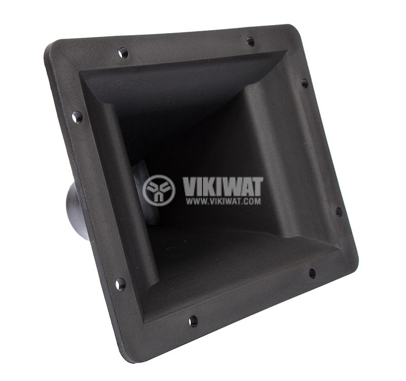 Horn speaker funnel PP-3306, black, rectangular hole, 194x154x115mm - 1