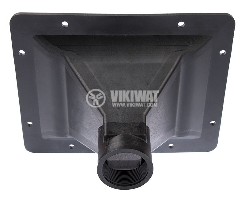 Horn speaker funnel PP-3306, black, rectangular hole, 194x154x115mm - 4