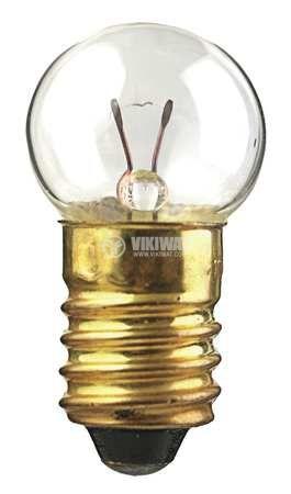 Миниатюрна лампа за фенер, 2.5 V, 0.3 A, E10