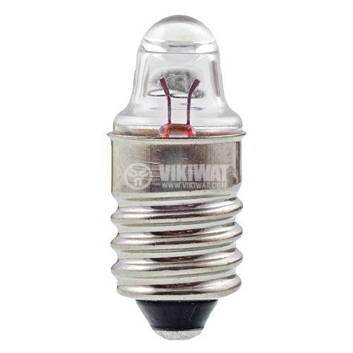 Миниатюрна лампа за фенер E10, 1.1 V, 0.3 A, на резба