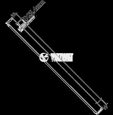 LED тръба, 1200mm, 18W, 220VAC, 1750lm, 6400K, студено бяла, G13, T8, двустранна, BA52-01283 - 2