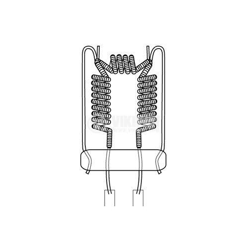 Халогенна ампула, 300 W, 230 VAC, GX6.35 - 3