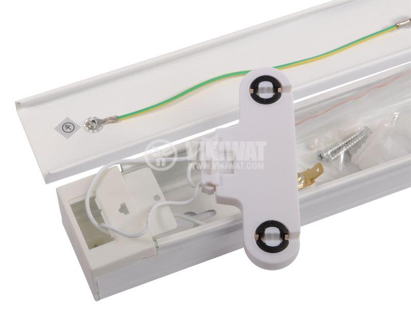 LED lamp socket, 2х600mm, white, 220VAC - 2