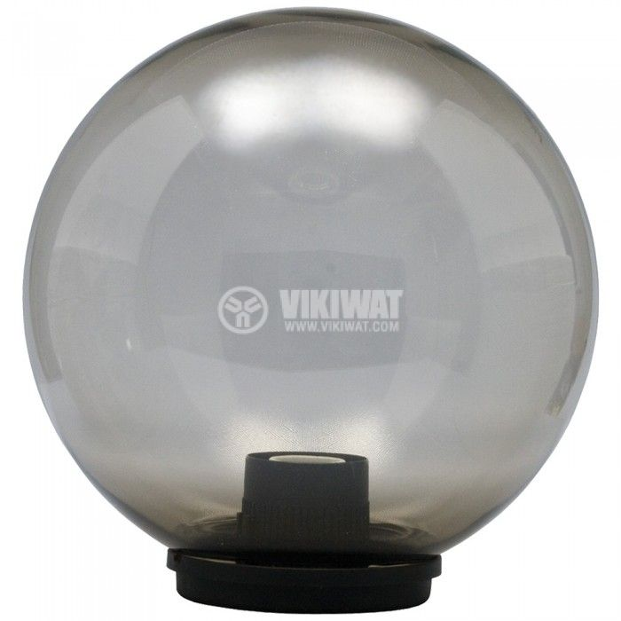 Outdoor Garden Globe Light,Ф250mm, smoky