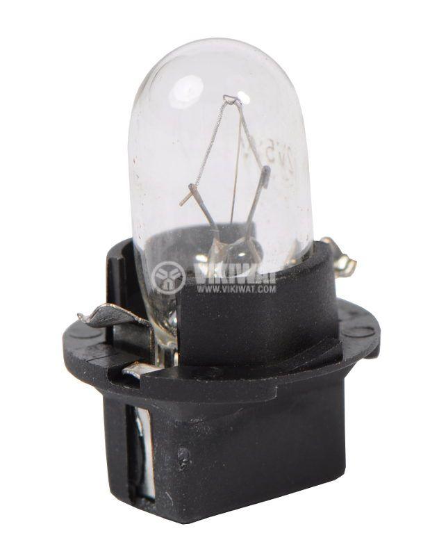 Автомобилна лампа с PVC цокъл, нажежаема жичка, B10d, 5W T10(3)