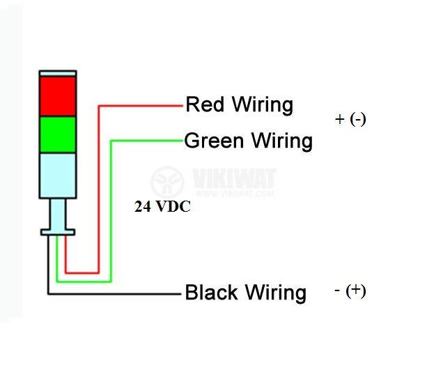 Сигнална колона, LTA205-2Т, 24 VDC, 5 W, червен/зелен цвят - 4