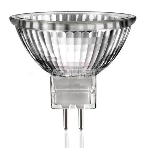 Халогенна лампа 220V, 50W, GU5.3, закрита