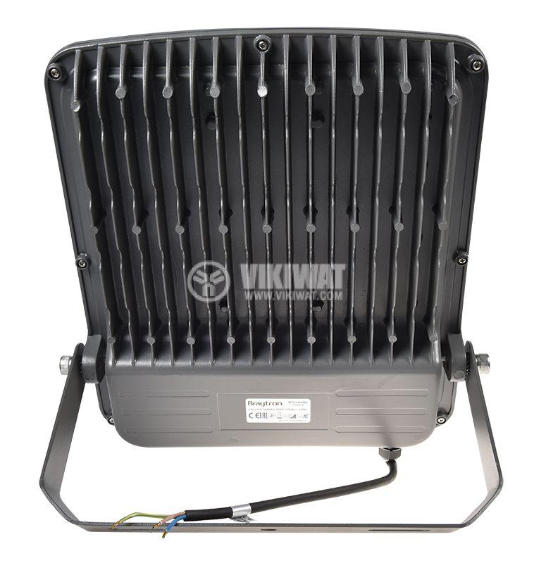 LED прожектор 150W, 220VAC, 12000lm, 3000K, топлобял, IP65, влагозащитен, SLIM, BT61-09402 - 5