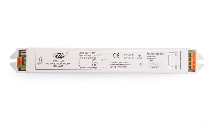 Електронен баласт, 220 VAC, 1x8 W - 1