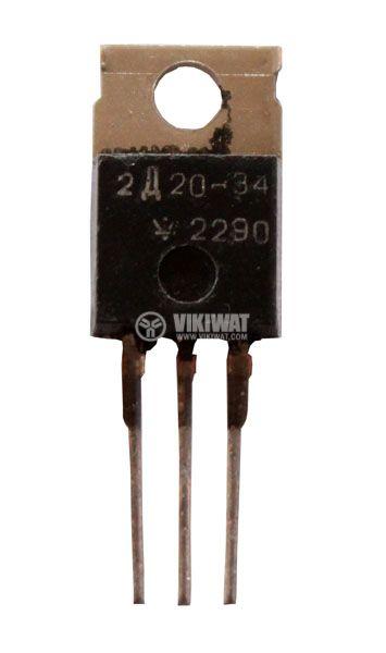 Диод BYV34-400 400 V, 2 x 10 A, 60 ns, Импулсен