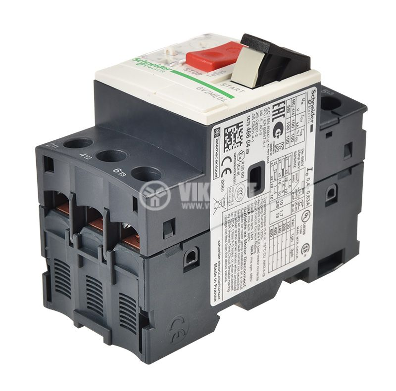 Circuit Breaker GV2ME04 with thermal current, 0.4~0.63A