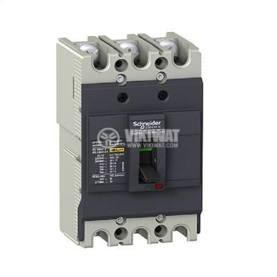 Automatic Circuit Breaker, EZC100N3080, 3P, 80А, 550VAC