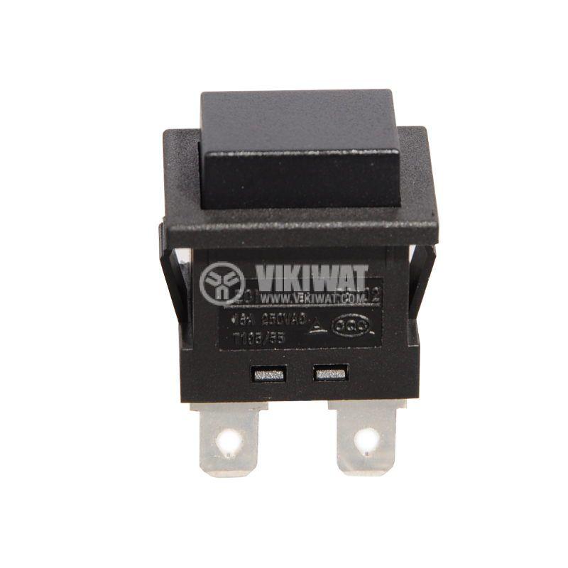 Button, PS102, 16A/250VAC, DPST NO, irretentive - 1
