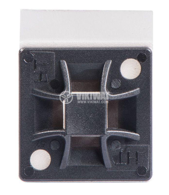 Самозалепваща се основа за кабелни превръзки QM40A-PA66-BK, 40x40mm, черна - 1