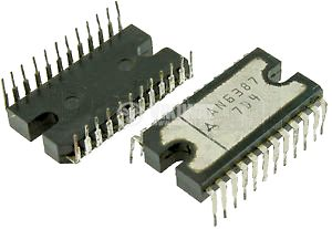 IC AN6387, VCR cylinder direct motor drive circuit, 24-pin DIL