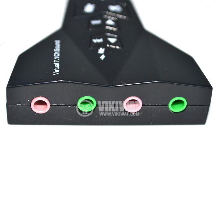 USB звукова карта (контролер) за звук 4 изхода 2 x микрофон + 2 x слушалки - 3