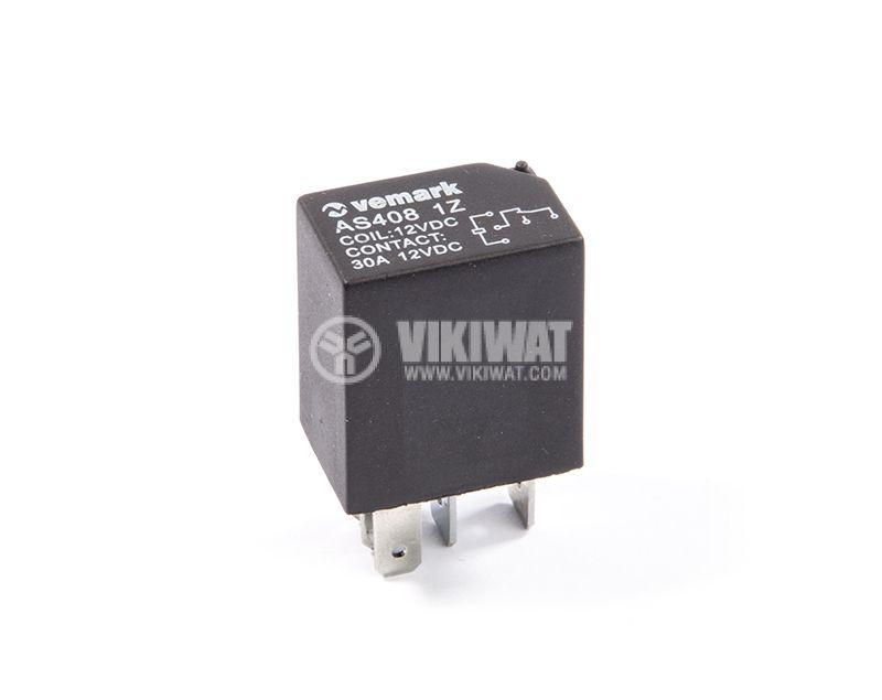 Automotive Relay, AS408 1Z, 12VDC, 30A, NO+NC - 1