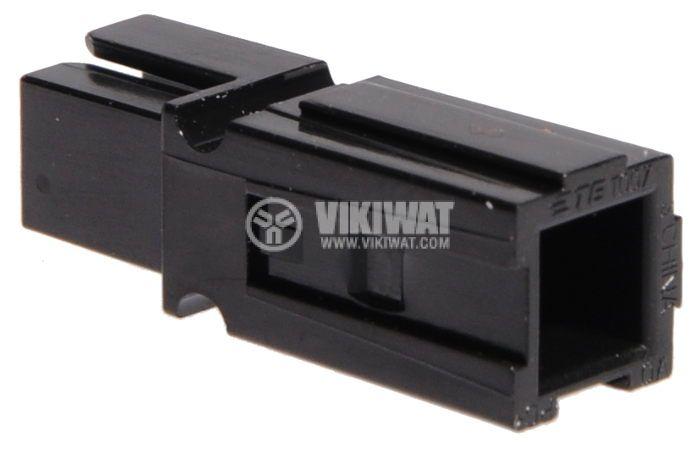 Plug 40А, 600V, black - 2