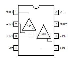 Интегрална схема BA15218 Dual operational amplifier; DIP8 - 2