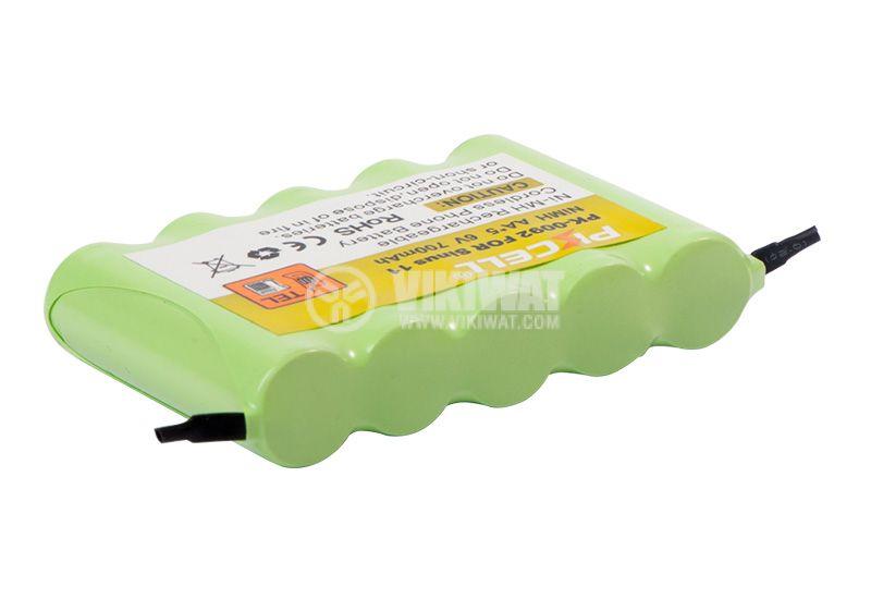 Cordless phone battery PKCELL PK-0092, 5 batteries AA/R06, NiMH, 6VDC, 700mAh   - 2