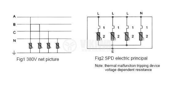 BY1-10D Surge Protective Device, 380VAC, 10kA - 3