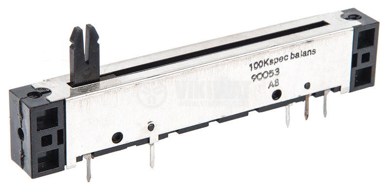 Потенциометър 100kOhm 0.25W логаритмичен - 2