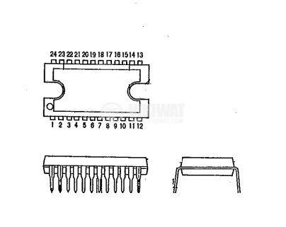 BA6435S - интегрална схема; 3-phase motor driver; SDIP-M24