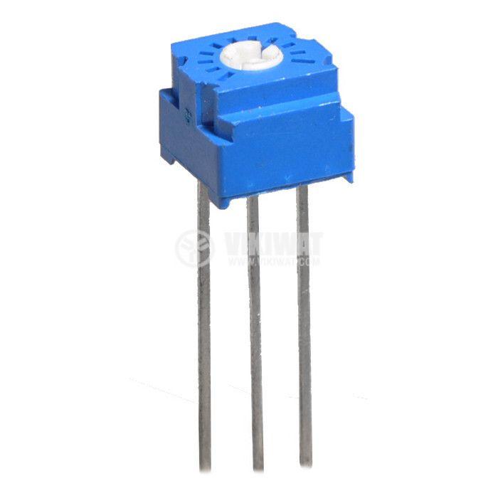 Тример потенциометър еднооборотен линеен, 500 Ohm, 0.5 W  - 1