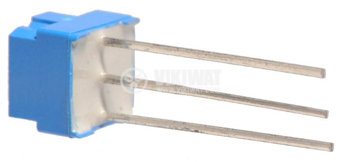 Тример потенциометър еднооборотен линеен, 50 kOhm, 0.5 W - 3