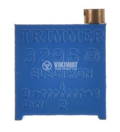 Тример потенциометър 200Ohm, 0.5W, многообoротен, хоризонтален, жичен, THT - 1