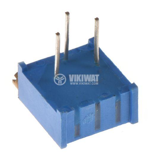Тример потенциометър 200Ohm, 0.5W, многообoротен, хоризонтален, жичен, THT - 2