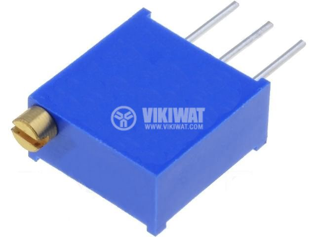 Тример потенциометър многообoротен вертикален жичен, 500 kOhm, 0.5 W