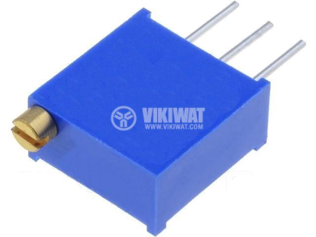 Тример потенциометър многообoротен вертикален жичен, 200 kOhm, 0.5 W