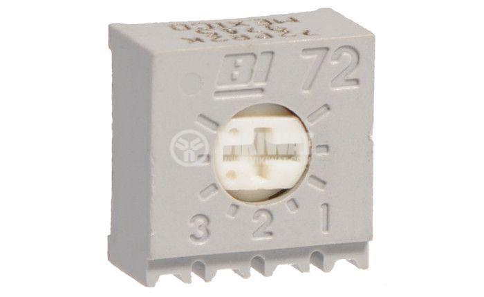 Тример потенциометър еднооборотен линеен, 2 kOhm  - 1