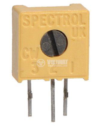 Trimmer Potentiometer Single Turn Linear Tape, 500 kOhm - 1